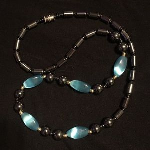 Jewelry - 🧨 Hematite and Blue Stone Necklace 🧨